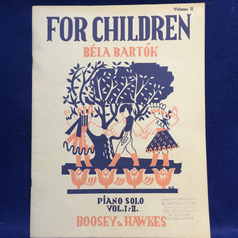 FOR CHILDREN BELA BARTOK PIANO SOLO VOL.1.-2. [Volume2]