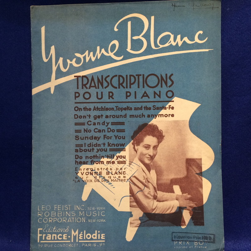 TRANSCRIPTIONS POUR PIANO by YVONNE BLANC