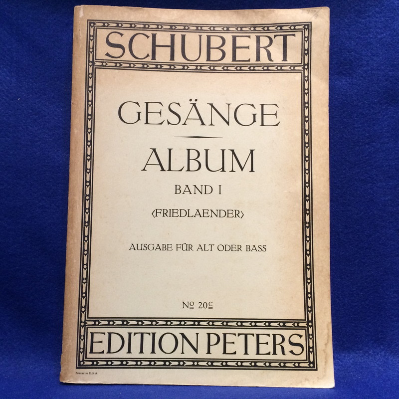 Schubert gesange album band1 Friedlaender