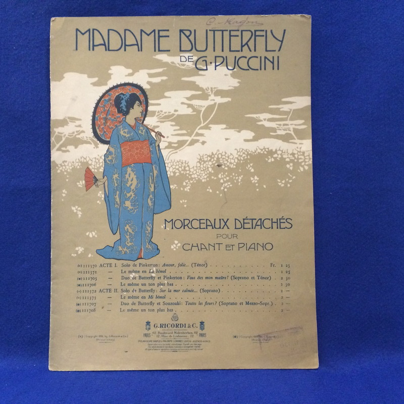 MADAME BUTTERFLY DE G. PUCCINI