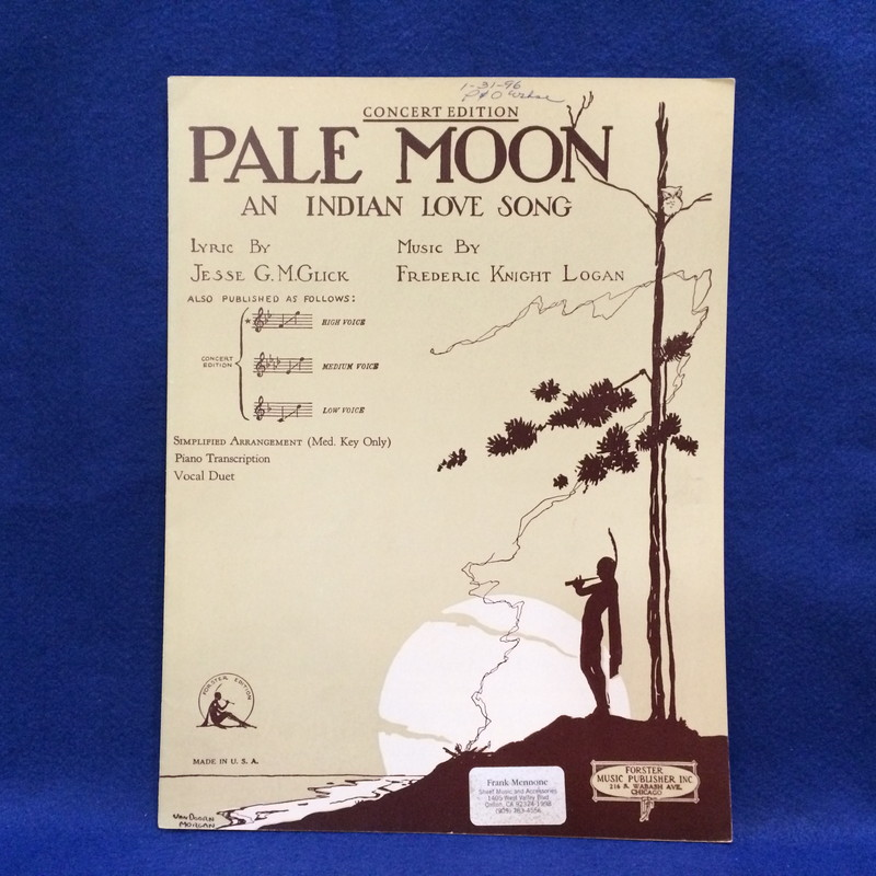 PALE MOON AN INDIAN LOVE SONG