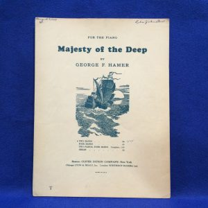 MAJESTY OF THE DEEP FOR THE PIANO