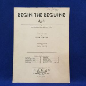 BEGIN THE BEGUINE With ENGLISH and SPANISH TEXT