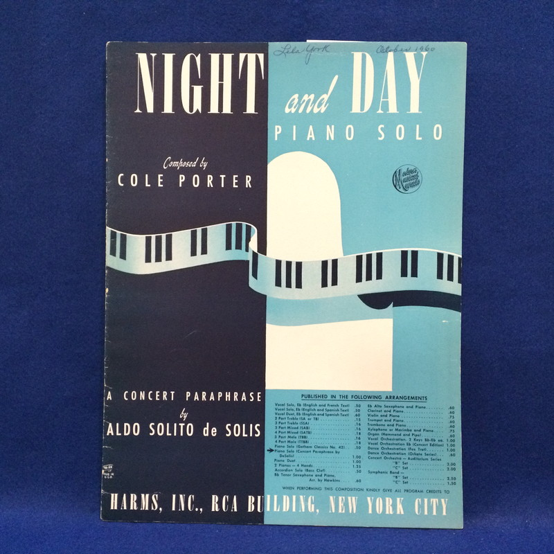 NIGHT AND DAY PIANO SOLO