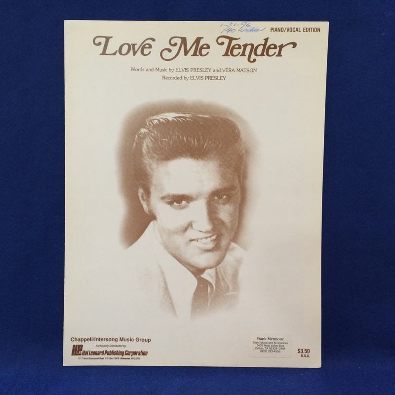 LOVE ME TENDER PIANO/VOCAL EDITION