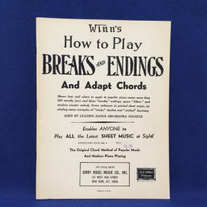Winn's How to Play BREAKS AND ENDINGS And Adapt Chords