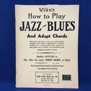 Winn's How to Play JAZZ AND BLUES And Adapt Chords
