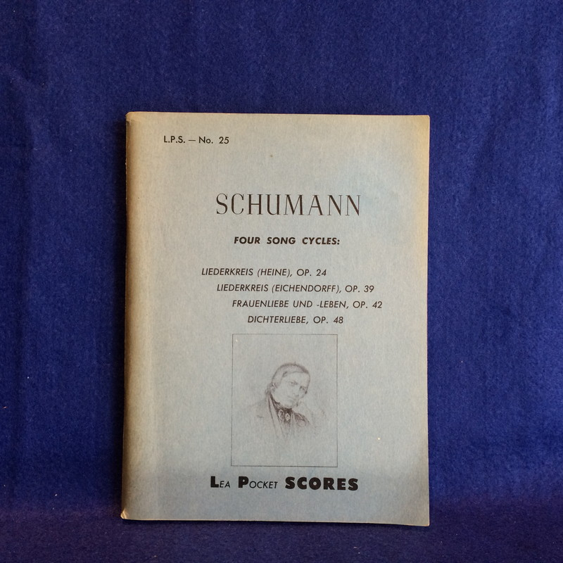 SCHUMANN FOUR SONG CYCLES