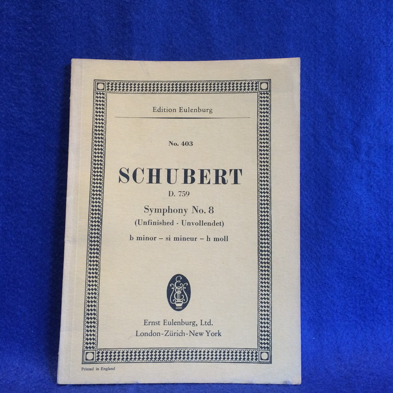 SCHUBERT D.759 Symphony No.8 (Unfinished) b minor