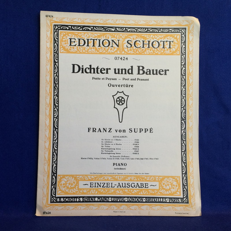 SUPPE DICHTER UND BAUER (Poet and Peasant) OUVERTURE PIANO