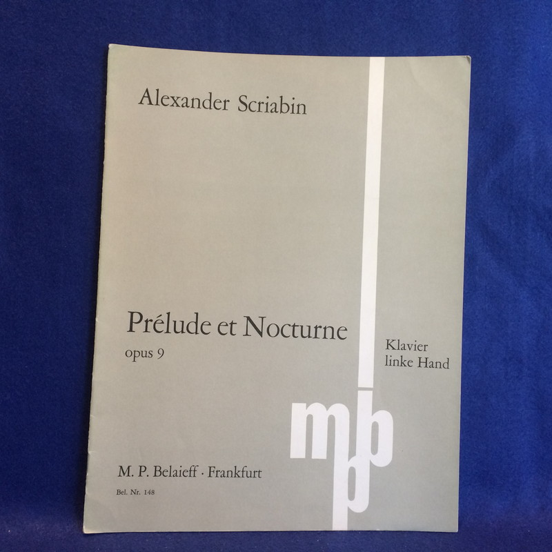 PRELUDE ET NOCTURN / PRELUDE AND NOCTURNE opus 9