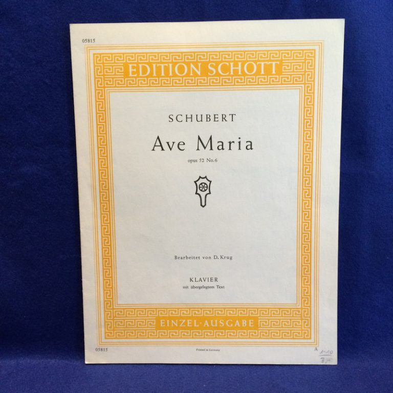 SCHUBERT Ave Maria opus 52 No.6