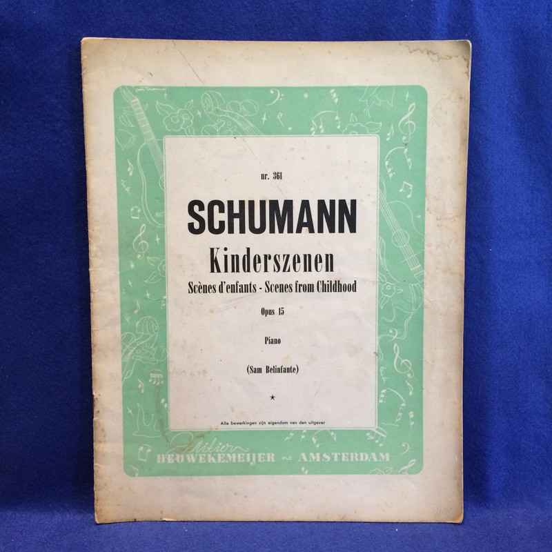 SCHUMANN Kinderszen Sce'nes d' enfants-Scenes from Childhood
