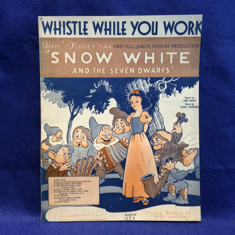 WHISTLE WHILE YOU WORK/Snow White And The Seven Dwarfs