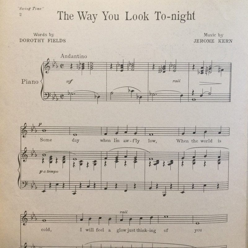 The Way You Look To-Night