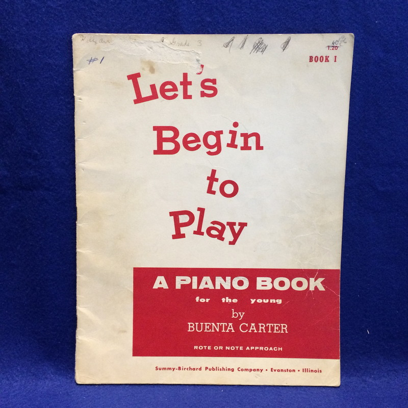 Let'sBegin to Play a Piano Book