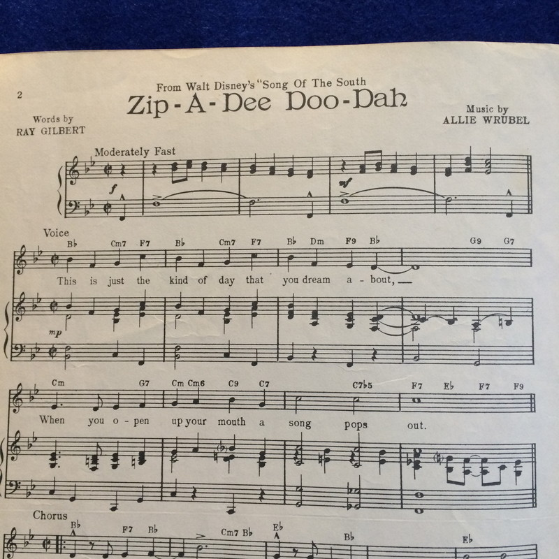 Zip-a-Dee-Doo-Dah From Song Of The South
