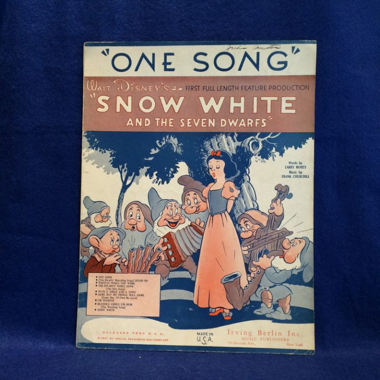 """One Song"" From Snow White and The seven Dwarfs"